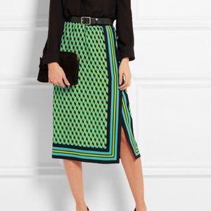 NWT Michael Kors Collection silk printed skirt